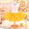 157.【PC-14】Blythe/Pullip Tulle Ball Mini Skirt # Orange