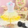 171.【PD-05】Blythe/Pullip Tulle Cake Mini Skirt # Multi-Coloured Yellow