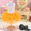 175.【PD-08】Blythe/Pullip Tulle Cake Mini Skirt # Orange