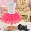181.【PD-12】Blythe/Pullip Tulle Cake Mini Skirt # Deep Pink