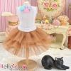 186.【PD-16】Blythe/Pullip Tulle Cake Mini Skirt # Cocoa