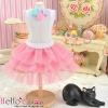 190.【PD-19】Blythe/Pullip Tulle Cake Mini Skirt # Rose Pink