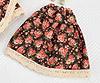05.【PF-1】Blythe/Pullip Long Cotton Skirts # Brown Flower