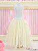 83.【PS-01】Blythe/Pullip Long Tulle Ball Skirt(Dot)# Beige
