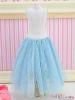 92.【PS-03】Blythe/Pullip Long Tulle Ball Skirt(Dot)# Blue