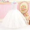 124.【PS-7】Blythe/Pullip Long Tulle Ball Skirt # White