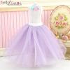 235.【PS-10】Blythe/Pullip Long Tulle Ball Skirt # Purple