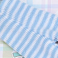【BP-166】Blythe Pantyhose Socks # Stripe Powder Blue