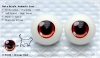 22mm/Meta Acrylic Animetic Eyes (RD-06) Orange Red