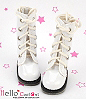 【13-12】B/P Boots.Shiny White