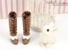 【07-08】B/P High-Heeled Boots.Chocolate