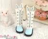 【25-6】B/P Cute Bunny Ears 5 Hole Boots # Sky Blue