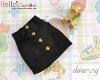 323.【PH-5】Blythe/Pullip A-line Mini Skirt With Pocket # Black