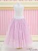 196.【PS-05】Blythe/Pullip Long Tulle Ball Skirt(Dot)# Purple