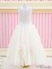197.【PS-06】Blythe/Pullip Long Tulle Ball Skirt(Dot)# White