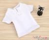 J44.【TD-1】Taeyang Short Sleeves Tee(2-Buttons)# White