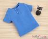 J51.【TD-8】Taeyang Short Sleeves Tee(2-Buttons)# Dodger Blue